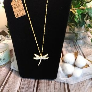 🌸Dragonfly gold necklace (126)